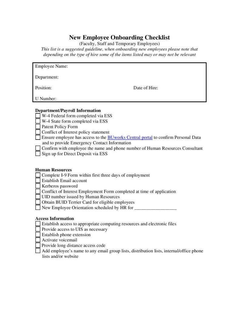 9 Checklist Templates For Business Free Premium Templates