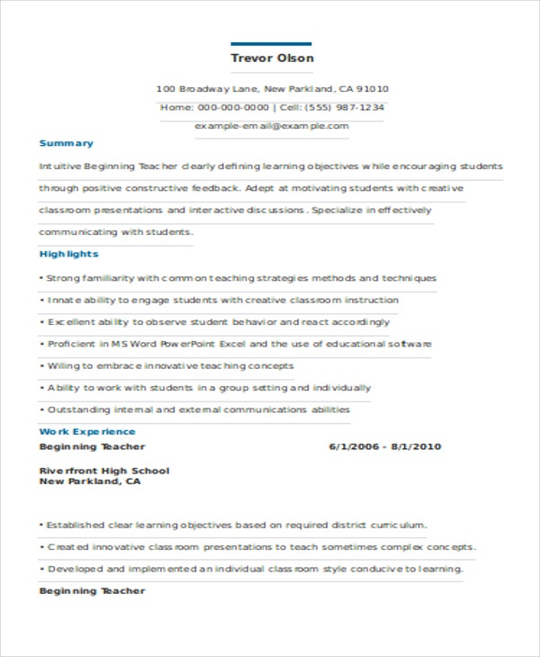 graduate teacher resume templates new sample special education