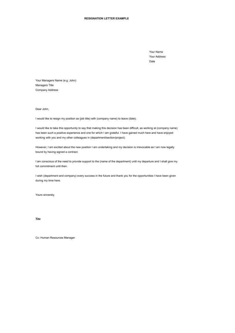 Resignation Letter To Hr from images.template.net