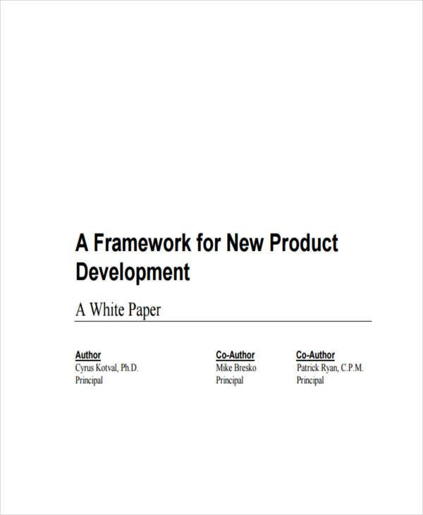 new product white paper