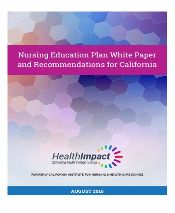 nursing education plan white paper