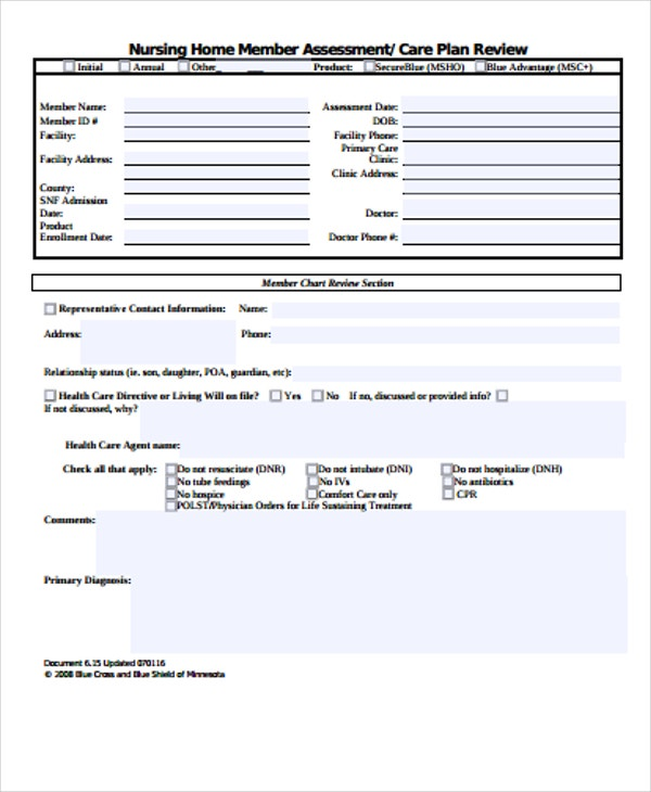 home health care plan template