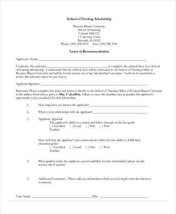 13+ Sample Nursing Reference Letter - Free Sample, Example Format