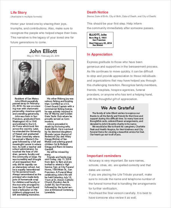 obituary tribute