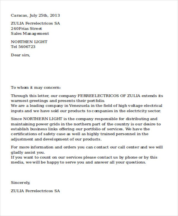 offer letter for service example