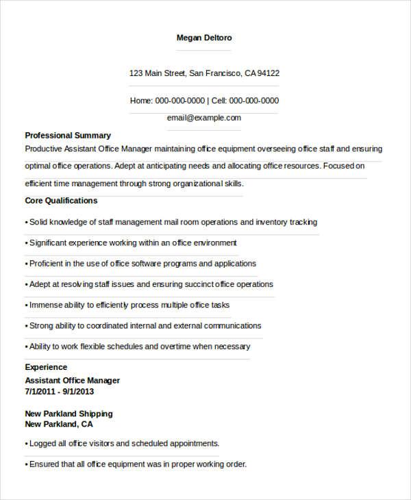 36 manager resume templates free premium