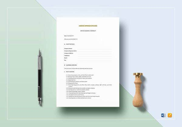 13 Cleaning Contract Templates Docs Word Free Premium Templates