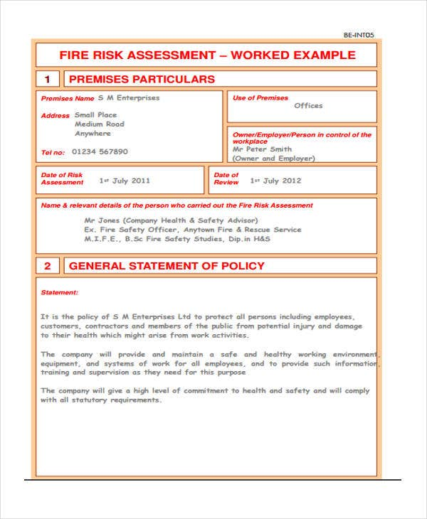 31 Risk Assessment Templates in PDF Free Premium Templates