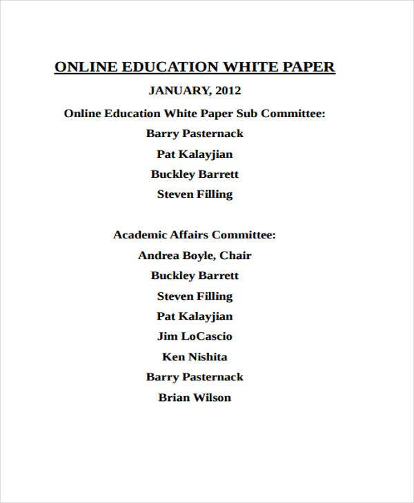 online education white paper