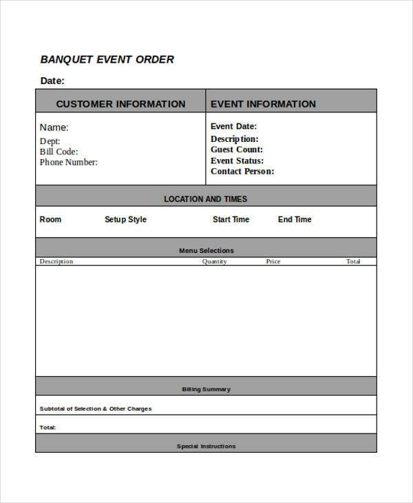 order for banquet event1