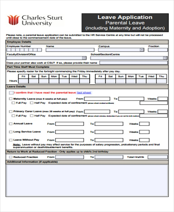 parental leave application