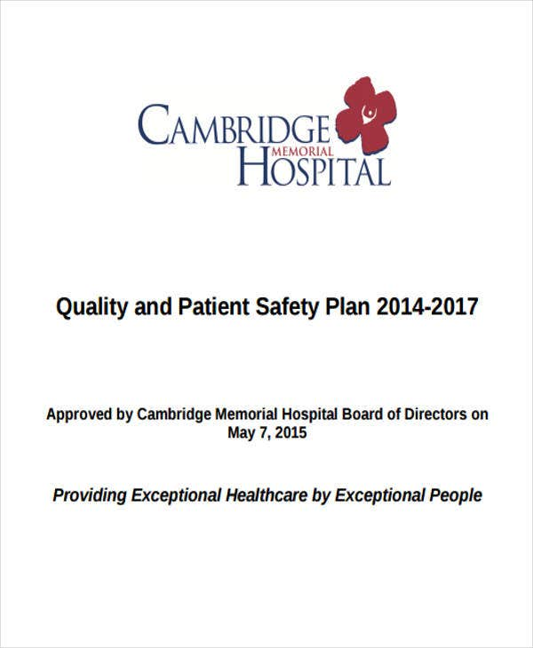 patient safety strategic plan