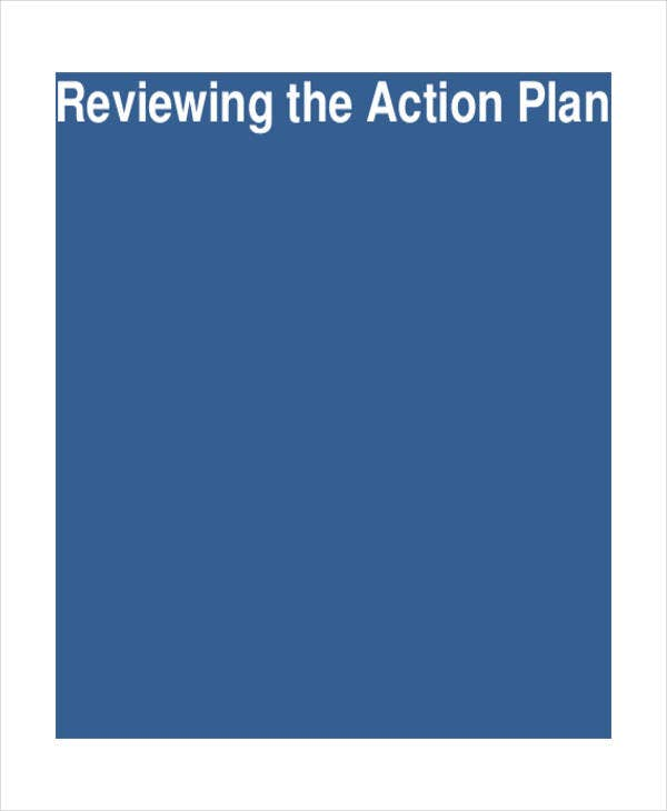 performance review action plan