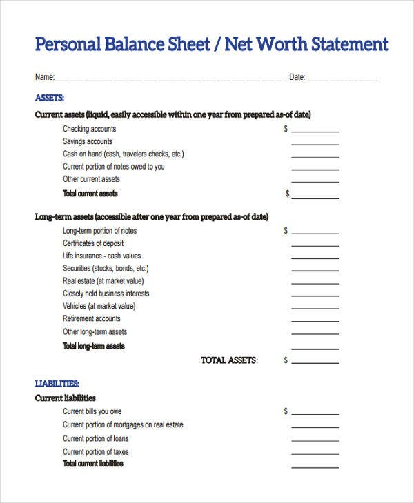 Balance Sheet Pdf