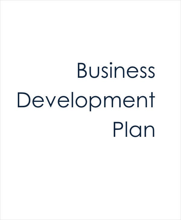 personal business development plan