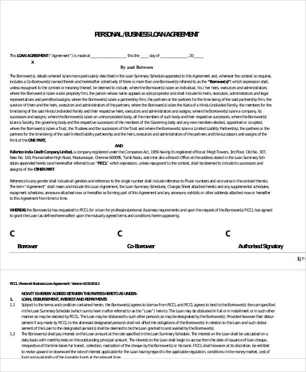 31  loan agreement templates