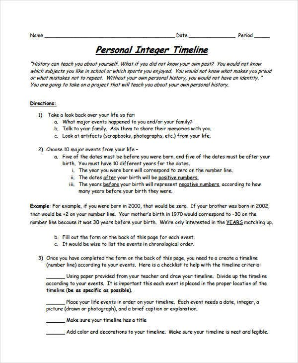 personal history timeline1