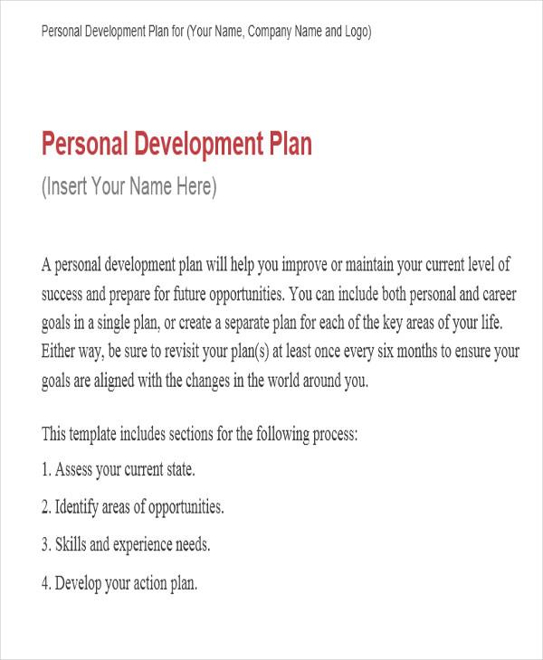 personal performance development plan