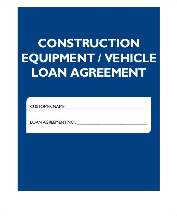personal vehicle loan agreement