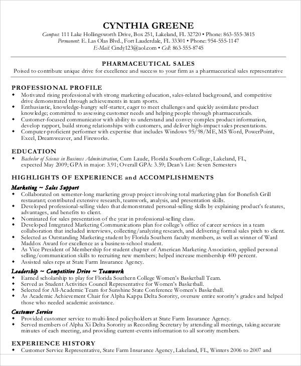 18 Sales Resume Templates In Pdf Free Amp Premium Templates