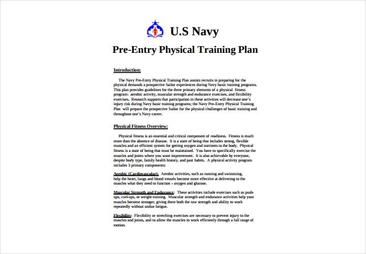 physical training plan