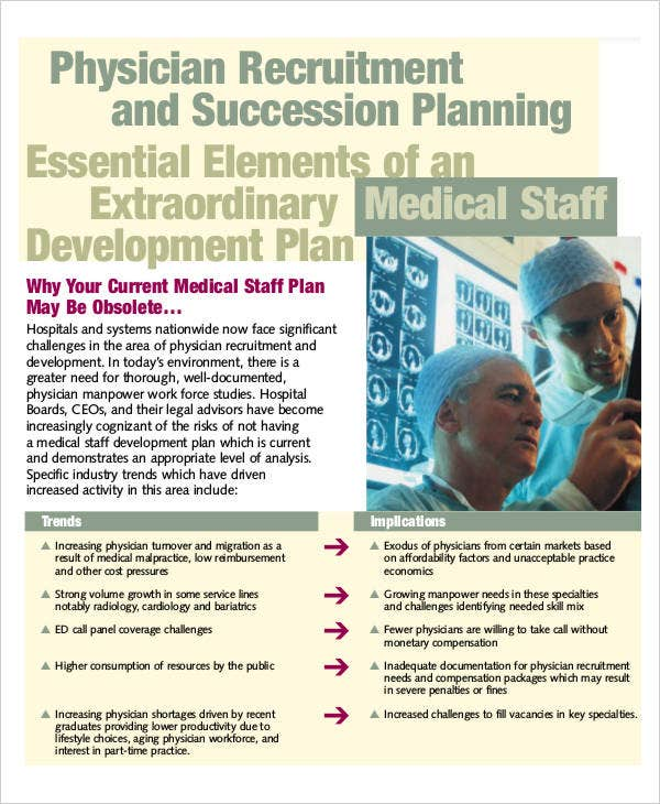 plan for physician recruitment
