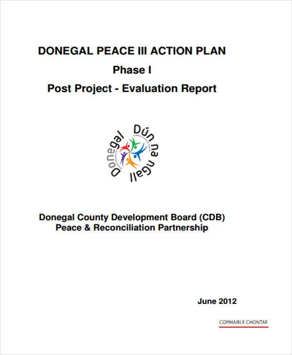 post project evaluation report