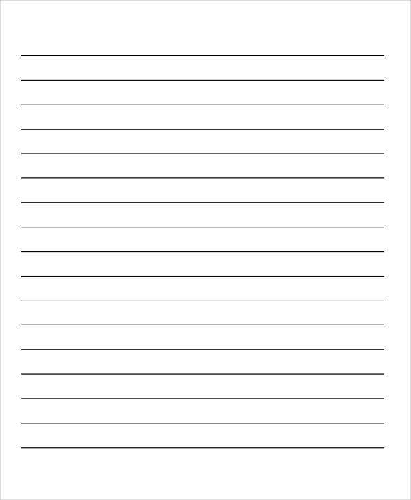 preschool lined writing paper