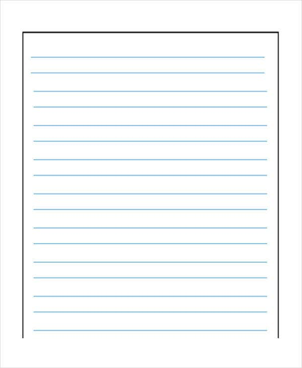 Preschool Wide Lined Paper  Can You Print On Lined Paper