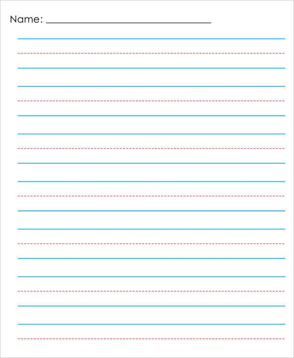 lined paper template kindergarten - Isken kaptanband co