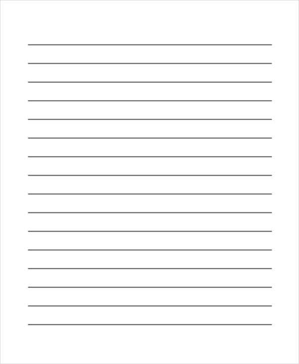 Printable Lined Writing Paper Templates. Primary Lined Writing Paper
