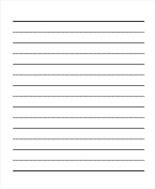 29 Printable Lined Paper Templates – School Writing Paper Template