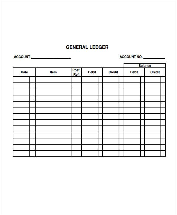 Ledger Paper Templates  Free Samples Examples Format