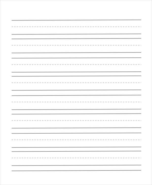 printable lined handwriting paper