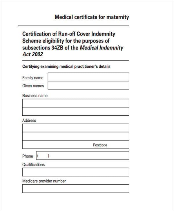 printable maternity certificate