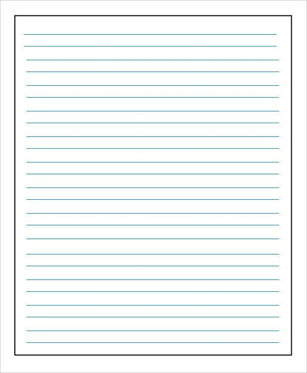 Refreshing image pertaining to lined paper printable pdf