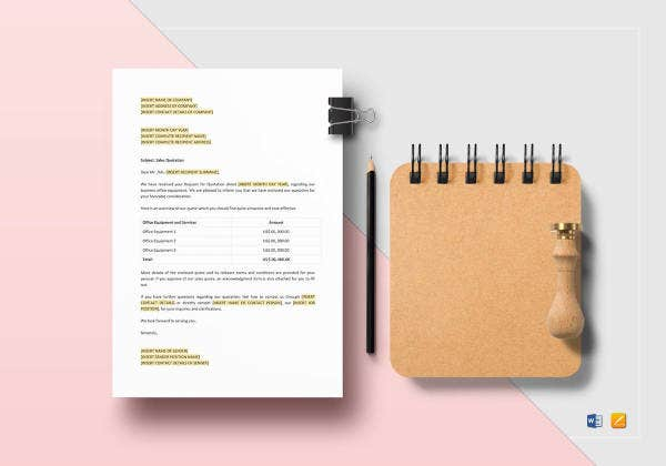 printable sales quotation template