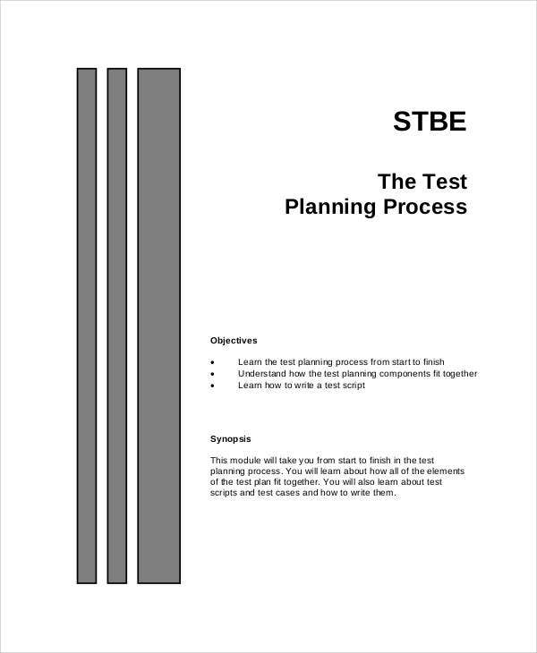 process test plan