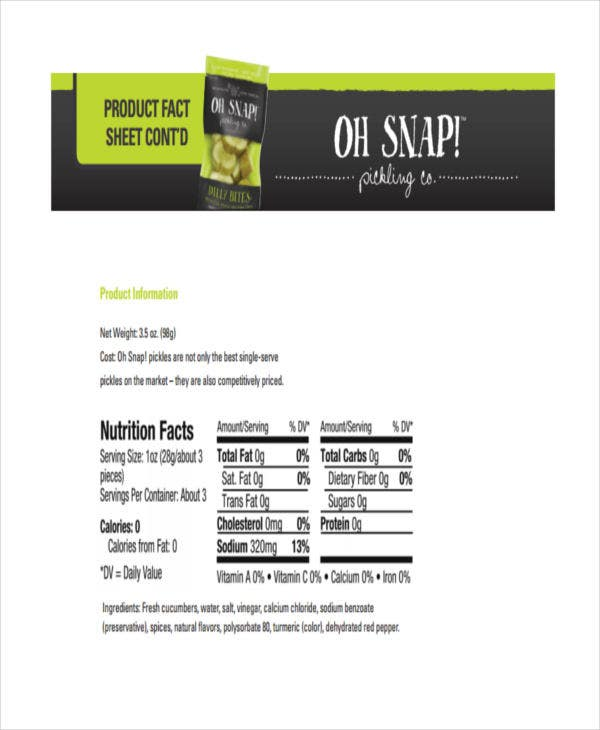 product fact sheet1