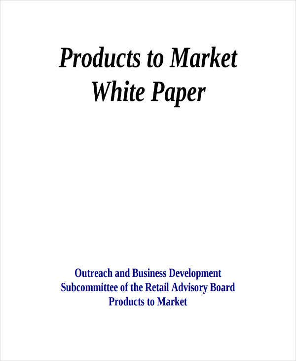 product marketing white paper