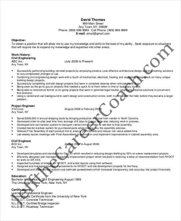 general resume template best general contractor resume example