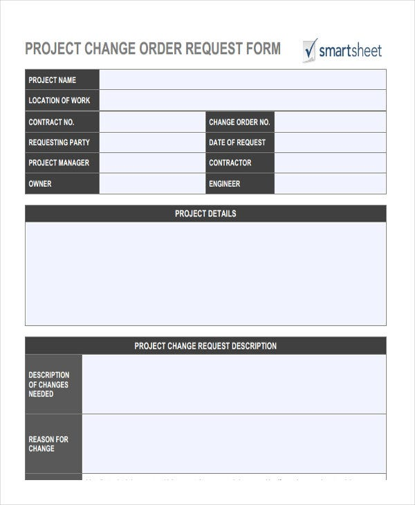 project change order