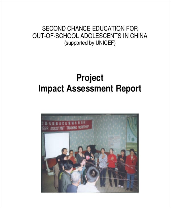 project impact assessment report