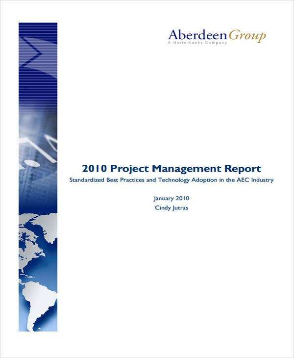 project management report sample