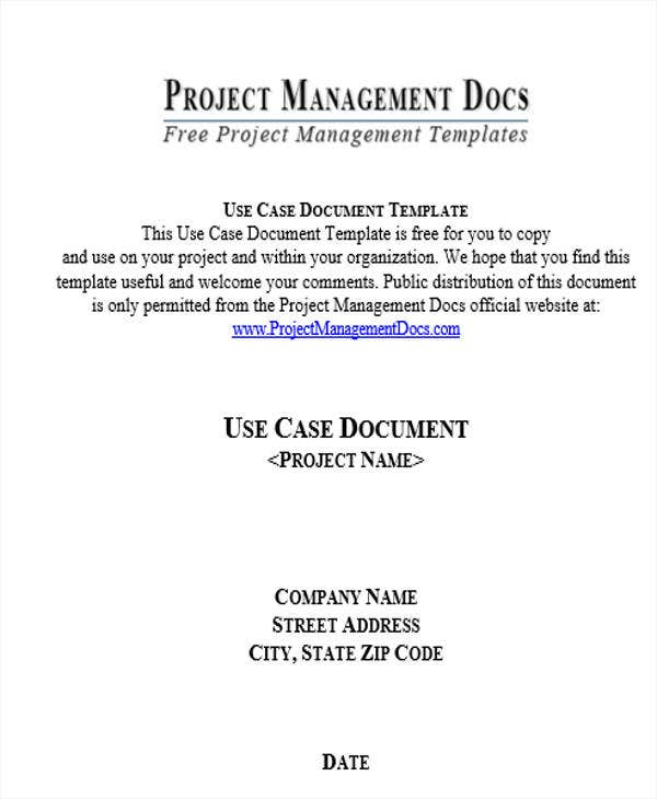 project management use case