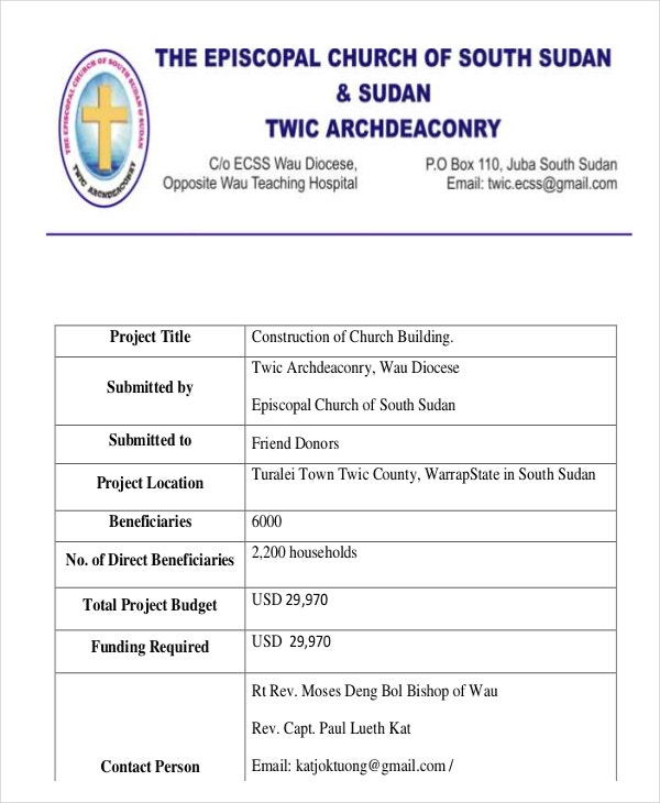 project proposal for building construction