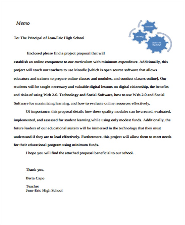 project proposal for high school