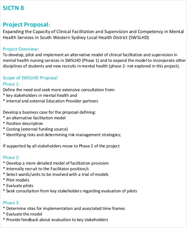 Research proposal example mental health