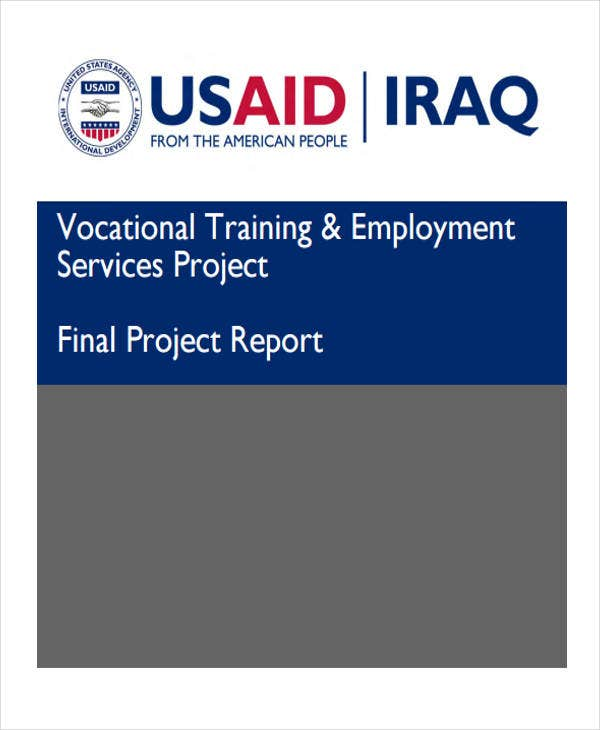 project report for research training