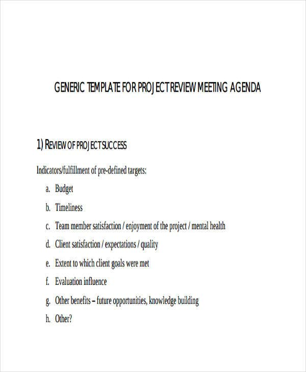 project review meeting agenda1